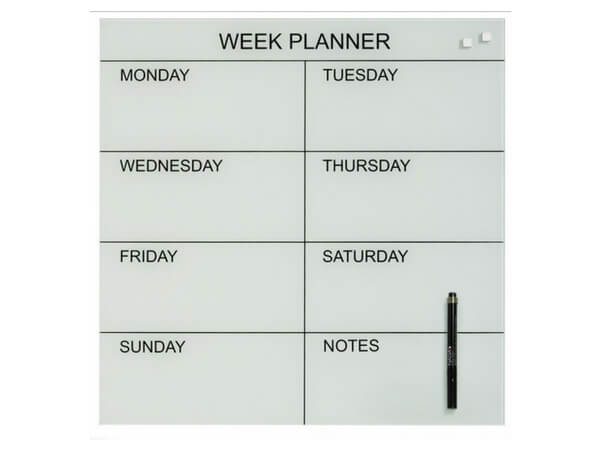 naga week planner 45x45 white