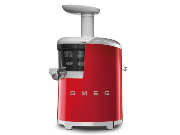 smeg retro slow juicer red