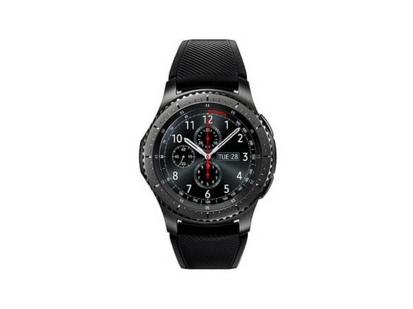 samsung galaxy gear s3 frontier black smart watch. Black Bedroom Furniture Sets. Home Design Ideas